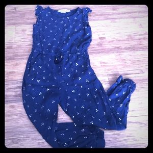 Navy with Gold Cherries Jumpsuit